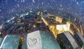 Snowy-Weihnachten Lemberg Lizenzfreies Stockbild