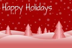 Snowy-Weihnachtsbaum-Szene Lizenzfreie Stockfotografie