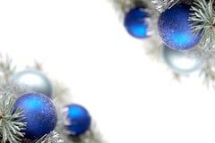 Snowy-Weihnachtsdekoration Lizenzfreies Stockbild