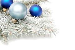 Snowy-Weihnachtsdekoration Lizenzfreie Stockbilder