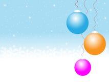 Snowy-Weihnachtshintergrund vektor abbildung