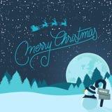 Snowy-Weihnachtshintergrund Lizenzfreies Stockfoto
