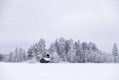 Snowy white winter island Royalty Free Stock Images