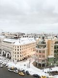 Snowy winter above Moscow Royalty Free Stock Image