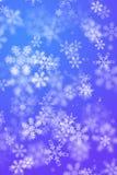 Snowy winter background Stock Photos