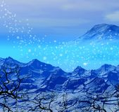 Snowy winter background stock image