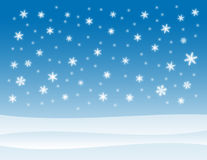 Snowy Winter Background Royalty Free Stock Photo