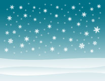 Snowy Winter Background Royalty Free Stock Photography