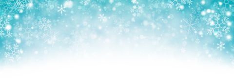 Snowy Winter Background Banner stock image