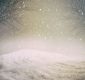 Snowy winter background Royalty Free Stock Images