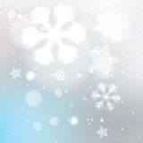 Snowy winter blurred background Stock Photography