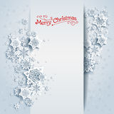 Snowy winter card Royalty Free Stock Images