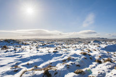 Snowy winter countryside landscape scene Royalty Free Stock Photos