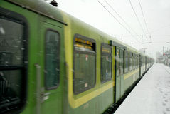 Snowy-Winter in Dublin 02.2009 Lizenzfreies Stockfoto