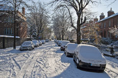 Snowy winter in Dublin Royalty Free Stock Photography