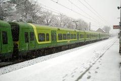 Snowy winter in Dublin Royalty Free Stock Photo