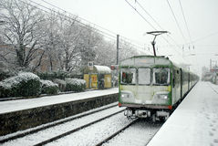 Snowy winter in Dublin Stock Image