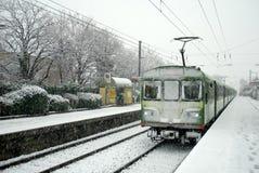 Snowy winter in Dublin Stock Image