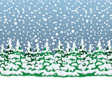 Snowy winter forest. Christmas landscape Stock Photos