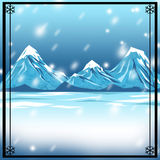 Snowy-Winter-Hintergrund-Hintergrund Stockbild
