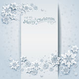 Snowy winter holiday card. Festive design for card, banner, invitation, leaflet and so on Royalty Free Stock Photo