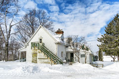 Snowy Winter houses Royalty Free Stock Images