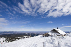Snowy winter landscape. On Jahorina mountain near Sarajevo, Republika Srpska, Bosnia Stock Photo