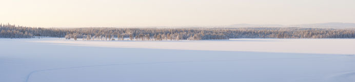 Snowy winter landscape panorama Royalty Free Stock Photo