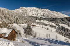 Winter landscape , Slovenia. Stock Photography