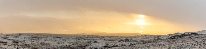 Snowy Winter Mountain range Stock Photos