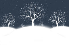 Snowy winter night Stock Photos