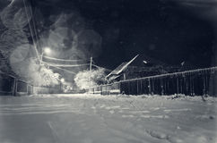 Snowy winter night Stock Photography