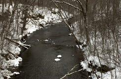 Snowy Winter river Royalty Free Stock Photos
