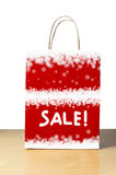 Snowy Winter Sale Bag Royalty Free Stock Images