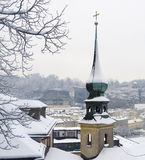 Snowy winter in Salzburg royalty free stock photography