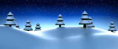 Snowy winter scene Stock Photography
