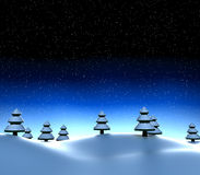 Snowy winter scene Royalty Free Stock Images