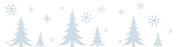 Snowy Winter Scene Border Stock Photos