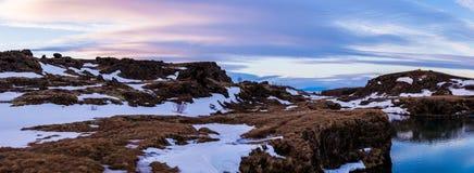 Snowy winter scene in Scandinavia Stock Photography