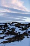 Snowy winter scene in Scandinavia Royalty Free Stock Photos