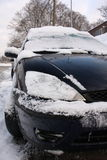 Snowy winter traffic Stock Photos