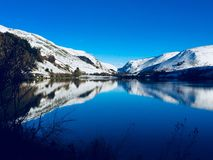 Snowy Winter in Wales Stock Photography