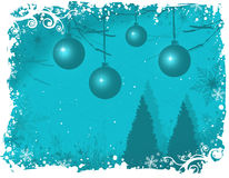 Snowy winter wonderland/ Aqua royalty free illustration