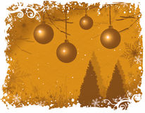 Snowy winter wonderland/ Gold vector illustration