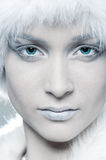 Snowy woman Royalty Free Stock Image
