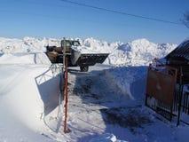 Snowy-Yard Lizenzfreies Stockfoto