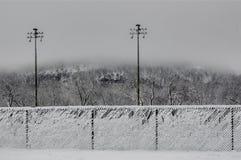Snowy-Zäune Lizenzfreie Stockbilder