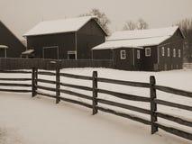 SnowyBarnyard Lizenzfreies Stockbild