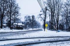 SnowyStreet Arkivbild