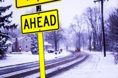 SnowyStreet Stockbild